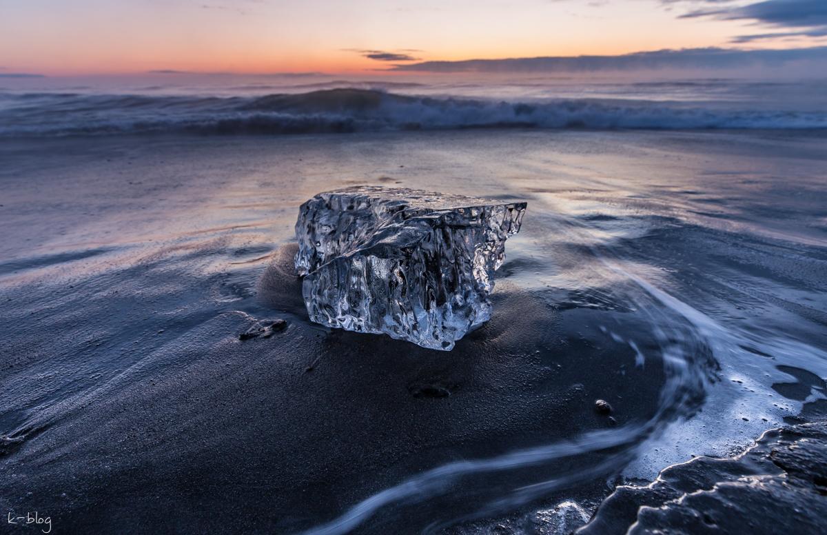 大津海岸のジュエリーアイスを撮影