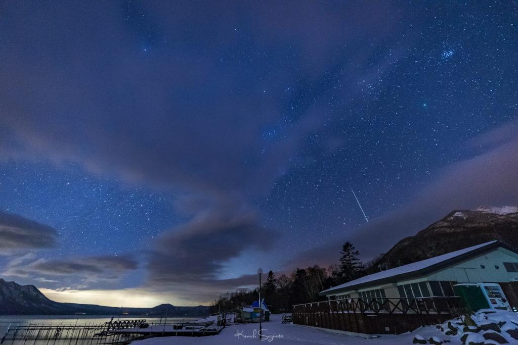 支笏湖で双子座流星群を撮影!