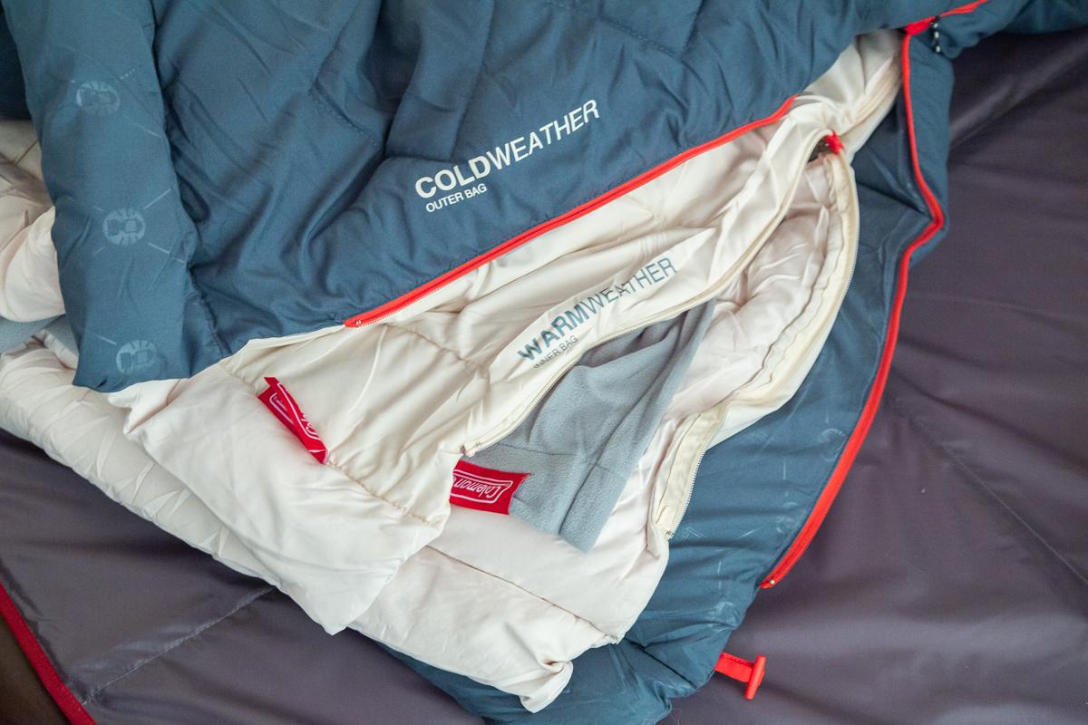 コールマンのマルチスリーピングバッグを使ってみました。