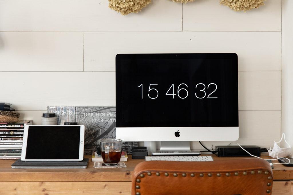 iMacに実用的なスクリーンセーバーを設定してみました