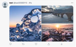 ツイッターに複数画像アップしたときの仕様を確認